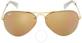 Ray-Ban Highstreet Copper Mirror Sunglasses RB3449 001/2Y