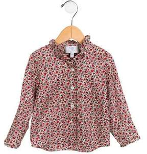 Baby CZ Girls' Floral Button-Up Top