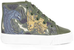 Burberry Printed high top trainers