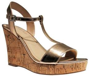 Charles David Charles by Women's Libra T Strap Wedge Sandal