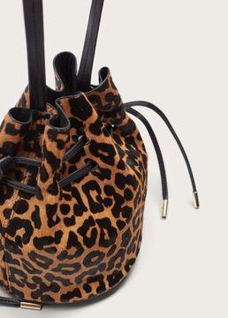Violeta BY MANGO Leopard print bag