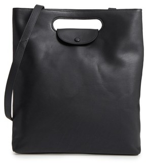 Steve Alan Codi Convertible Leather Backpack - Black