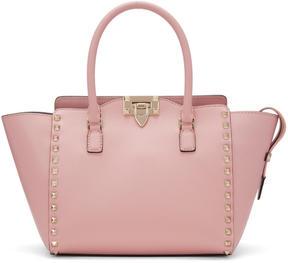 Valentino Pink Garavani Small Rockstud Zip Tote