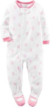Carter's Baby Girls 1-Piece Footed Fleece Pajamas