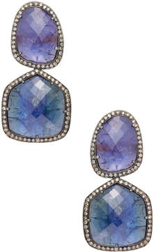 Amrapali Women's 18K Yellow Gold, Silver, Tanzanite & 1.71 Total Ct. Diamond Drop Earrings