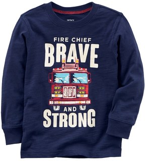 Carter's Toddler Boy Fire Chief Brave and Strong Tee