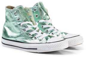 Converse Metallic Light Green Chuck Taylor All Star Trainers