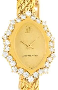 Audemars Piguet 18K Yellow Gold Manual Vintage 22.3mm Womens Watch