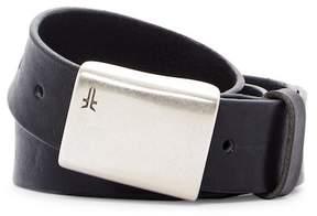Frye Signature Plaque Leather Belt