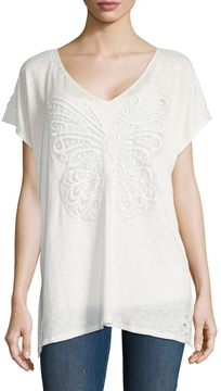 Calypso St. Barth Women's Motili Linen Lace Embroidered Tee