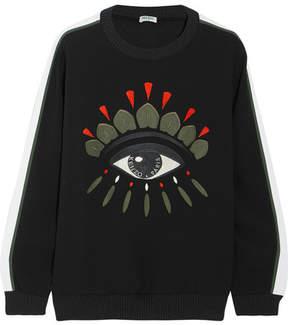 Kenzo Embroidered Crepe Sweatshirt - Black