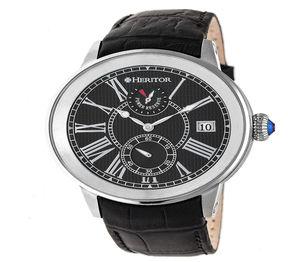 Heritor Mens Black Strap Watch-Herhr4302