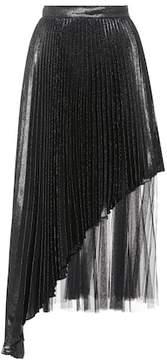 Christopher Kane Silk-blend pleated skirt