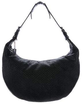 Christian Dior Perforated Leather Hobo