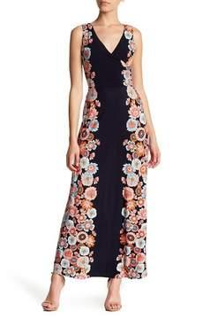 London Times Floral Surplice Maxi Dress (Petite)