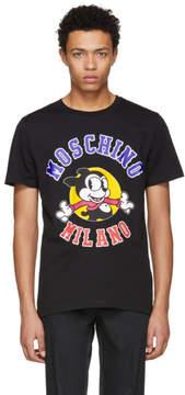 Moschino Black Cartoon Logo T-Shirt