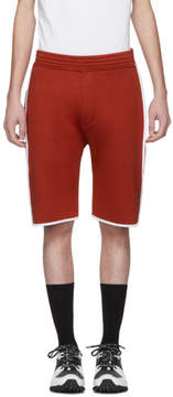 Neil Barrett Red and White Slouch Low-Rise Basketball Shorts