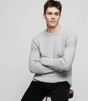 Reiss Emory Ribbed Cotton Jumper