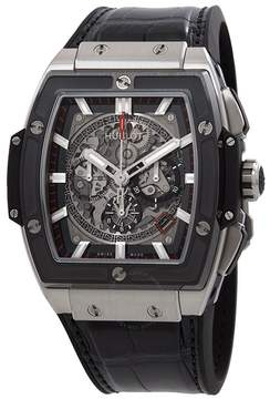 Hublot Spirit of Big Bang Men's Automatic Black Leather Strap Watch