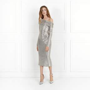 Rachel Zoe Glenda Metallic Stretch-Jersey Dress
