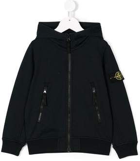 Stone Island Junior zipped hooded jacket