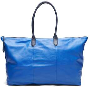 Banana Republic Italian Leather Luxe Weekender Tote