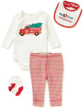 Starting Out Baby Boys Newborn-9 Months My First Christmas 4-Piece Layette Set