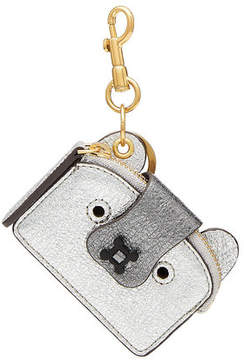 Anya Hindmarch Husky Metallic Leather Keychain
