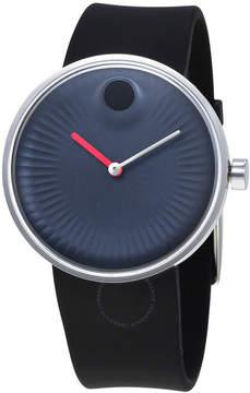 Movado Edge Blue Dial Silicone Men's Watch