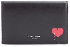 Saint Laurent Leather wallet - BLACK - STYLE