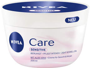 Nivea Cream Care Sensitive by 200ml Cream)