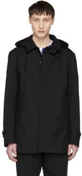 Comme des Garcons Homme Black Water-Repellent Hooded Jacket