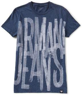 Armani Exchange Armani Jeans Slim-Fit Painted Logo Short-Sleeve Tee