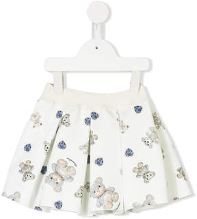 MonnaLisa teddy bear print skirt