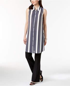 Alfani Sleeveless Convertible Tunic Shirt, Created for Macy's