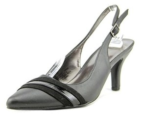 Karen Scott Ginaa Pointed Toe Synthetic Slingback Heel.