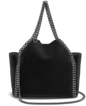 Stella McCartney Falabella Mini Velvet Reversible Cross Body Bag - Womens - Black