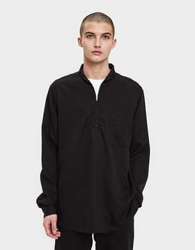Our Legacy Shawl Zip Shirt in Black Silky Wash