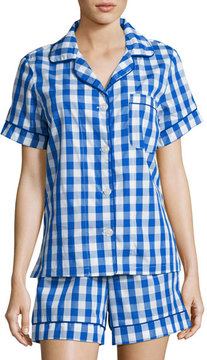 BedHead Gingham Shorty Pajama Set, Navy