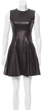 Cushnie et Ochs Leather A-Line Dress