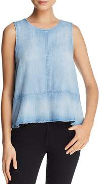 Bella Dahl Chambray Peplum Top