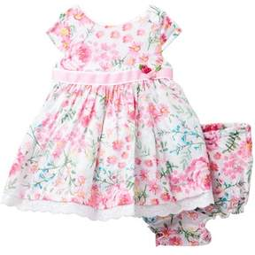 Laura Ashley Floral Print Dress (Baby Girls)