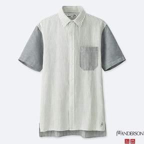 Uniqlo Men's Jwa Linen Cotton Short-sleeve Shirt