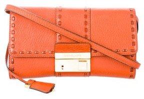 Michael Kors Leather Crossbody Bag - ORANGE - STYLE
