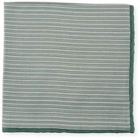 Brunello Cucinelli Striped Silk Pocket Square