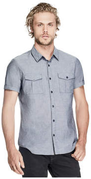 GUESS Chambray Short-Sleeve Shirt