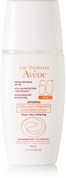 Avene - Spf50 Mineral Ultra-light Hydrating Sunscreen Lotion, 38.5ml - Colorless