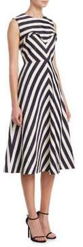DELPOZO Striped A-Line Dress