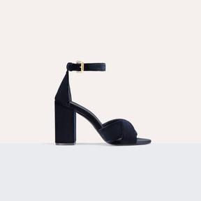 Maje Heeled suede calfskin sandals