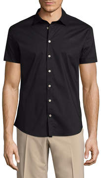 Parke & Ronen Men's Slim Fit Cotton Sportshirt